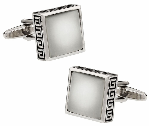 White Fiber Optic Cufflinks
