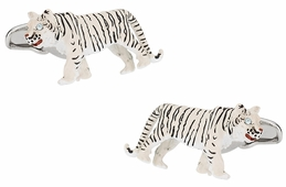White Tiger Cufflinks