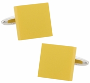 Yellow Modern Square Cufflinks