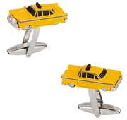 Yellow Taxi Cab Cufflinks