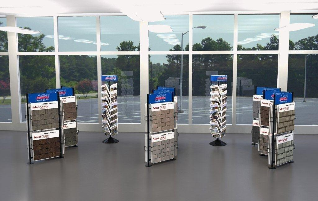Exhibition Stand Construction Materials : In stock sample board displays building materials racks