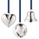 2017 Georg Jensen Christmas Gift Set - Heart, Ball, Bell, Palladium Plated  (2 Left)