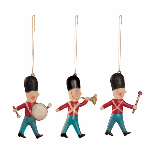 3 Metal Soldier Ornaments in a Matchbox