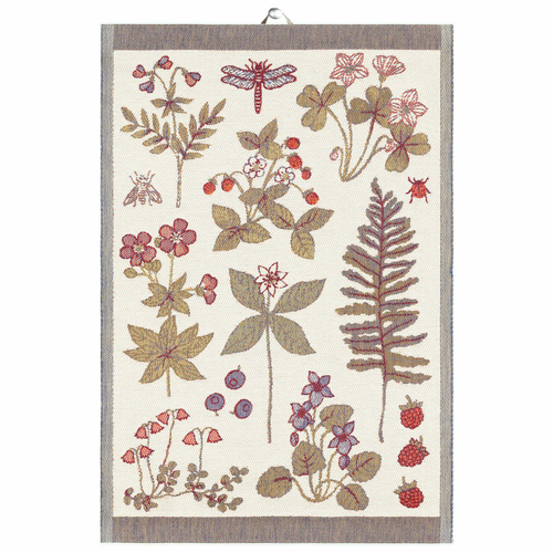 7 Blommor Tea Towel, 14 x 20 inches