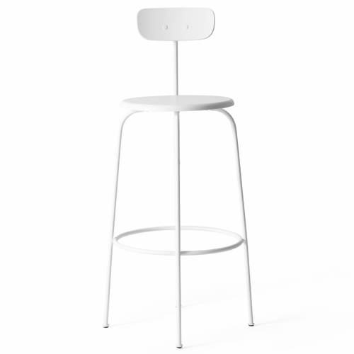 Afteroom Bar Stool, White