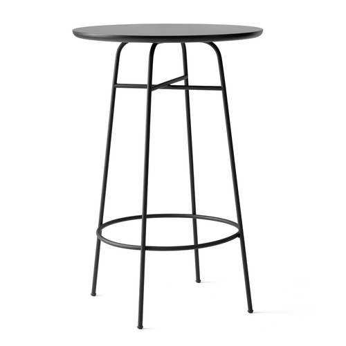 Menu Afteroom Bar Table, Black Laminate/Black