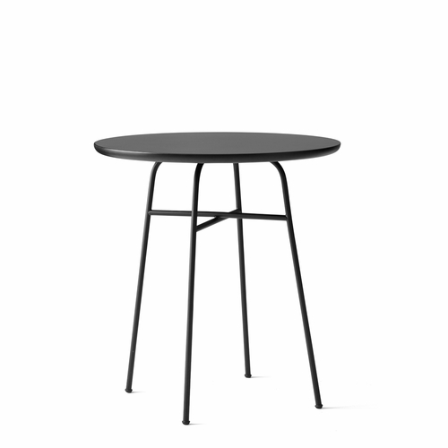 Afteroom Cafe Table, Laminate, Black/Black