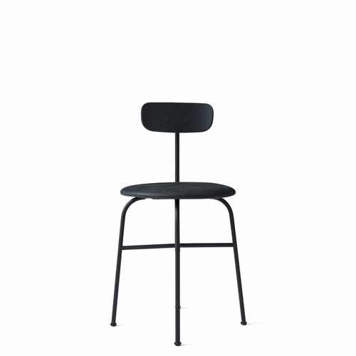 Afteroom Dining Chair Plus, Black Leather