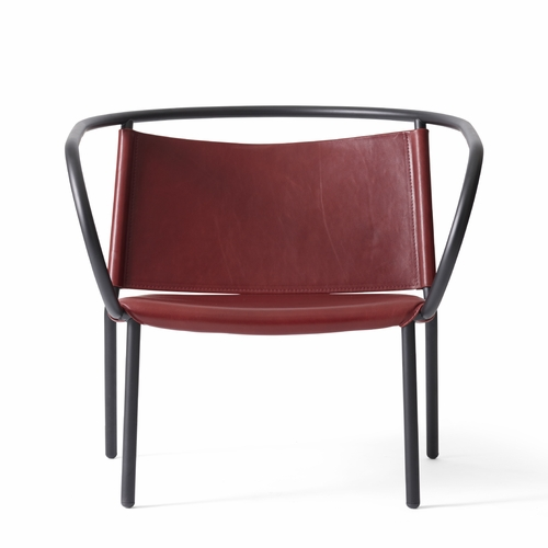 Afteroom Lounge Chair, Red Leather