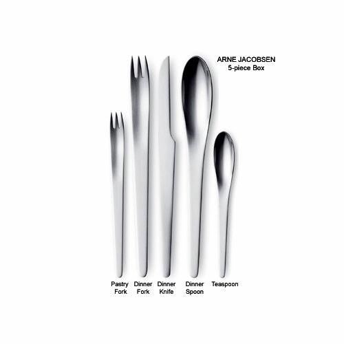 AJ/Arne Jacobsen 5-Piece Steel Cutlery Set