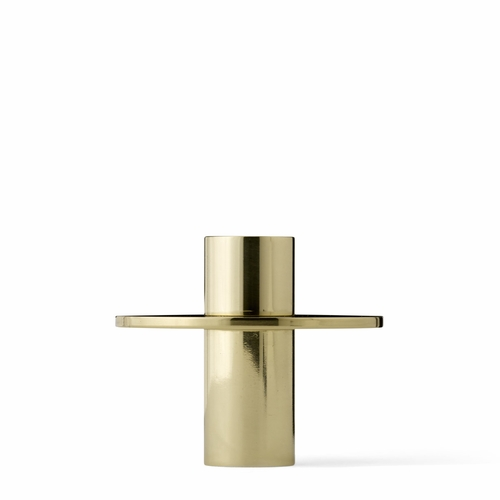 Antipode Candle Holder, High, Shiny Brass