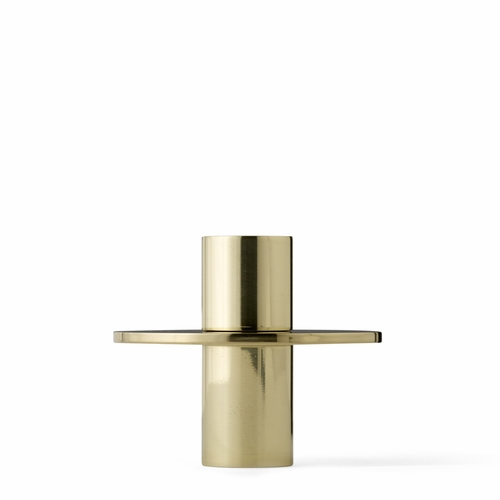 Antipode Candle Holder, Mid, Shiny Brass