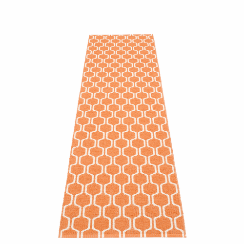 Ants Plastic Rug - Pale Orange/Vanilla, 2 1/4' x 8 3/4'