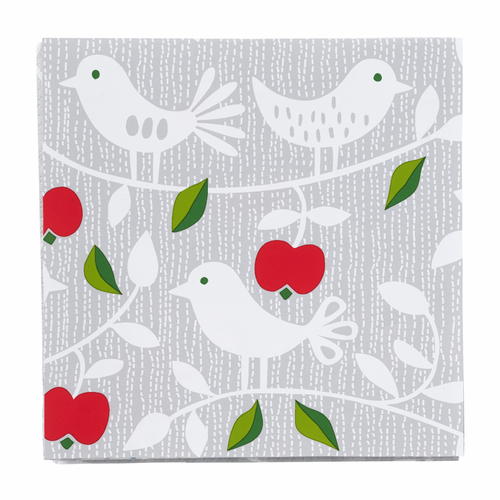 Apple & Bird Paper Napkins, 3 Packs of 20