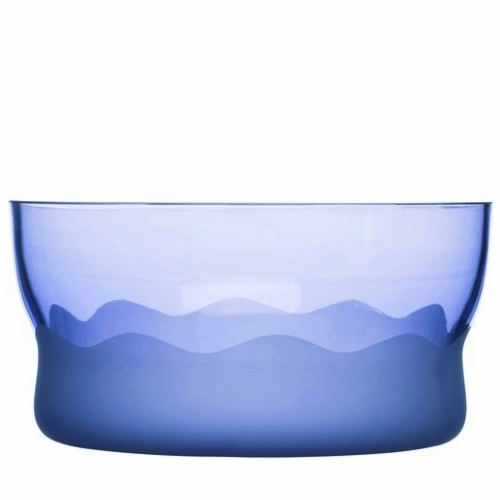 Aqua Wave Serving Bowl, Blue