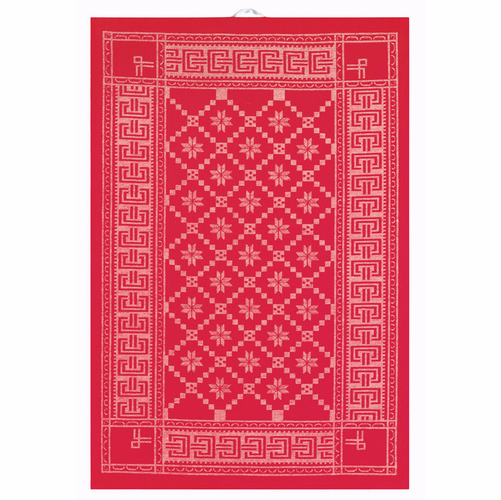 �ttebladrose Red Tea Towel
