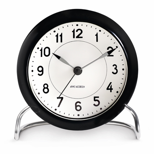 Arne Jacobsen Station Table Clock, Black