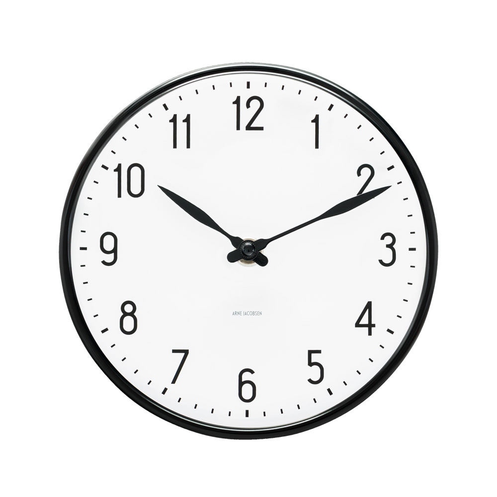 Arne jacobsen table wall clocks watches arne jacobsen station wall clock four sizes amipublicfo Image collections