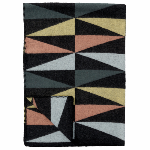 Art Deco Merino & Lambs Wool Blanket