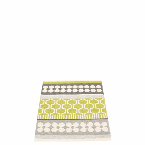Pappelina Asta Plastic Rug - Lime, 2 1/4' x 3'