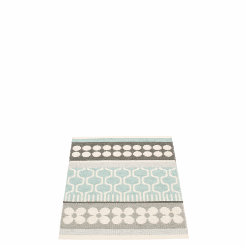 Pappelina Asta Plastic Rug - Pale Turquoise, 2 1/4' x 3'