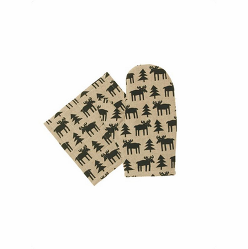 Älg (Moose) Oven Glove & Pot Holder Set