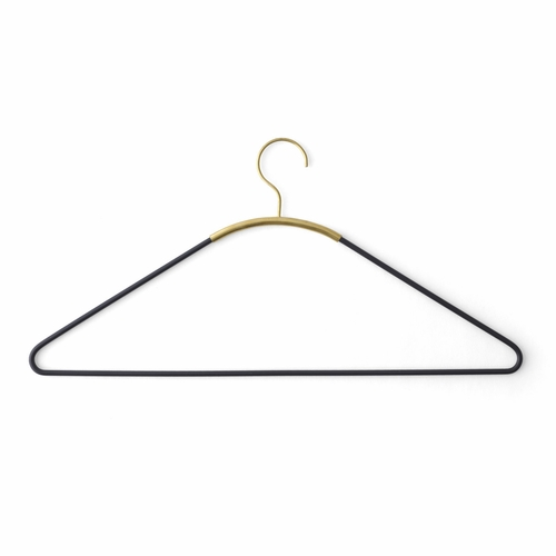 Ava Coat Hanger, Black/Brass