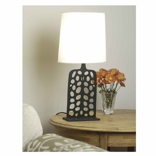 "B&L 20"" Swedish Iron Dotted Lamp"