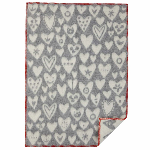 Klippan Baby Heart ECO Wool Blanket