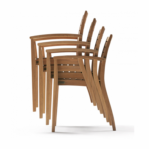 Ballare Stacking Chair, Teak