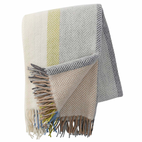 Birka Brushed Lambs Wool Throw, Natural