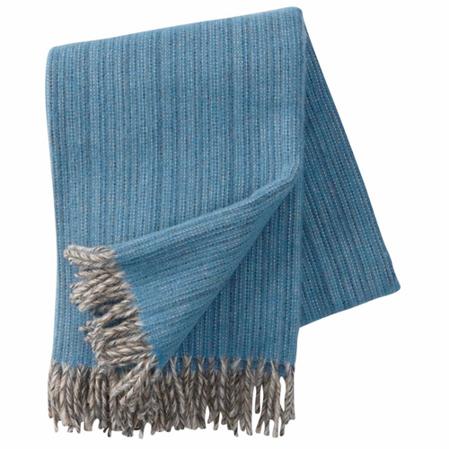 Bjork Brushed ECO Lambs Wool Throw, Aqua