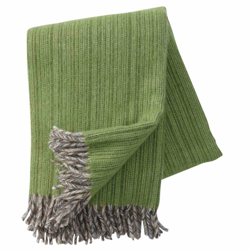 Bjork Brushed ECO Lambs Wool Throw, Green