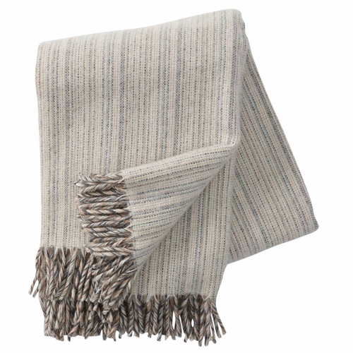 Bjork Brushed ECO Lambs Wool Throw, Natural