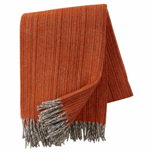 Bjork Brushed ECO Lambs Wool Throw, Orange