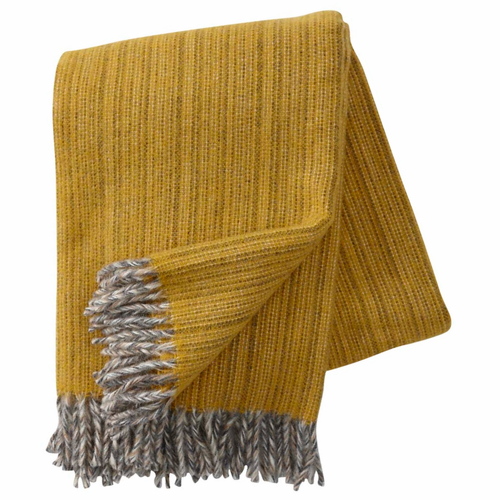 Bjork Brushed ECO Lambs Wool Throw, Yellow