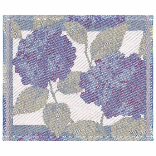 Ekelund Weavers Bla Hortensia Dishcloth