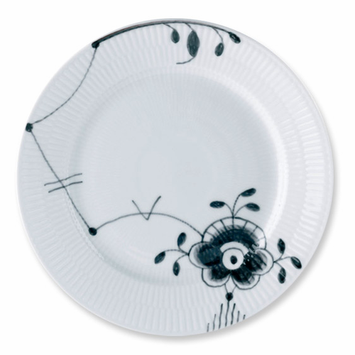 Black Fluted Mega Dinner Plate #6