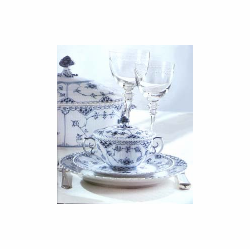Royal Copenhagen Blue Fluted Full Lace Five Piece Place Setting