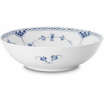 Blue Fluted Half Lace Serving Bowl (Small)