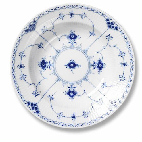 Royal Copenhagen Blue Fluted Half Lace Soup Plate