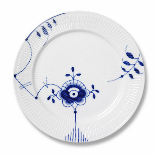 Blue Fluted Mega Dinner Plate #6
