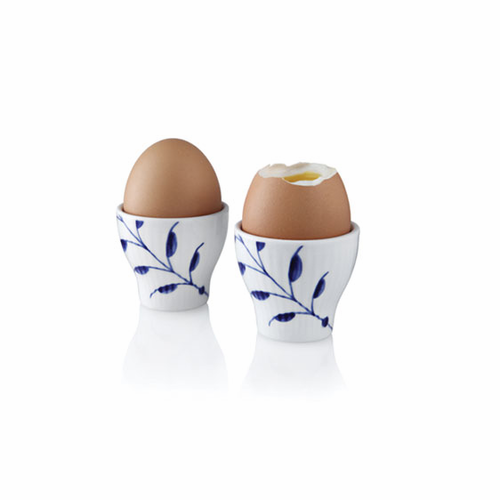Blue Fluted Mega Egg Cup, Set of 2