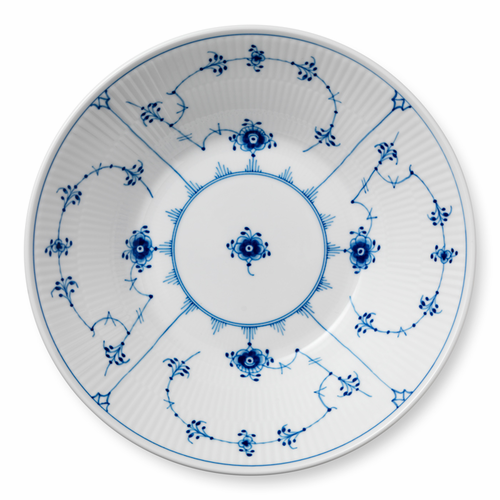 Blue Fluted Plain Pasta Bowl, 9.5""