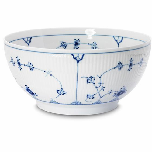 Blue Fluted Plain Serving Bowl (Large)