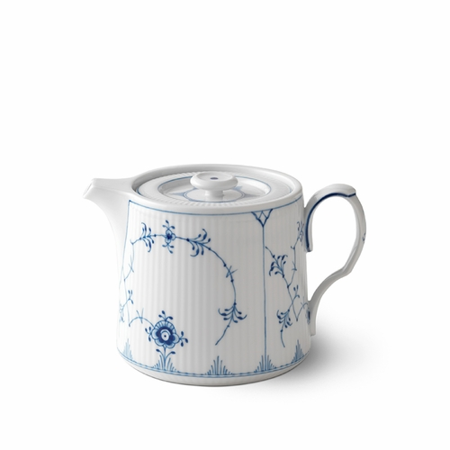 Royal Copenhagen Blue Fluted Plain Teapot, 25 oz