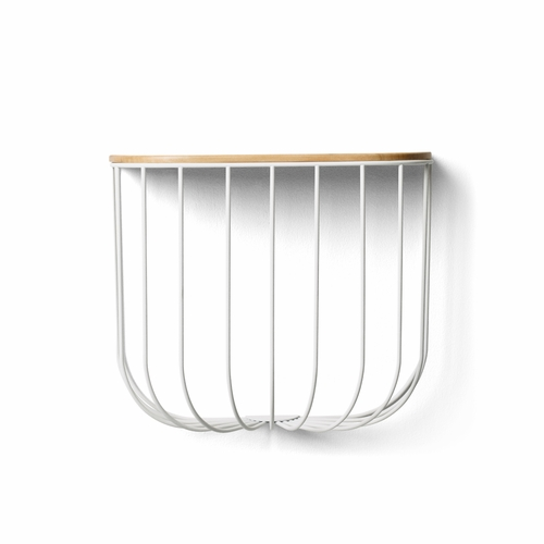 Cage Shelf, Light Ash/White