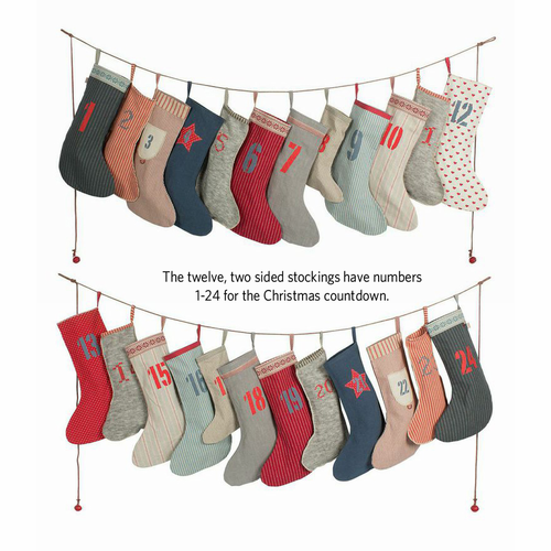 Calendar Garland Socks