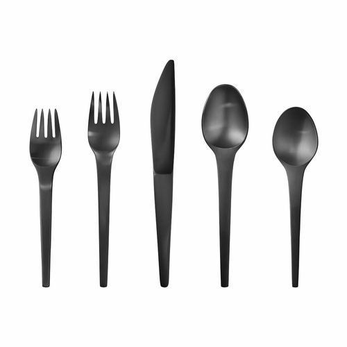 Georg Jensen Caravel 5-Piece Black Coated Steel Cutlery Set