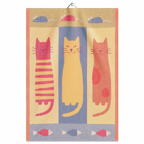 Cats Tea Towel, 19 x 28 inches